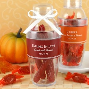 Personalized Fall Party Cocktail Shaker Favors image