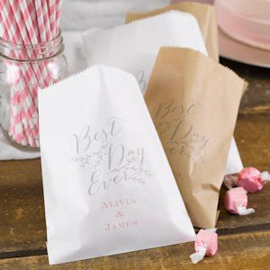 Personalized Rustic Vines Favor Bags (Set of 50) image