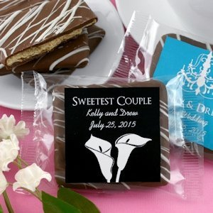 Personalized Wedding Silhouette Chocolate Graham Favors image