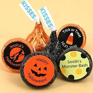 Hershey Kiss Personalized Halloween Candy Favors image