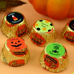 Personalized Halloween Reese's Peanut Butter Cup Favors image