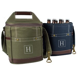 Personalized Craft Beer 6 Pack Bottle Cooler (2 Colors) image