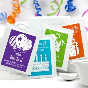 Personalized Birthday Tea Bag Party Favors image