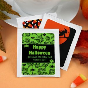 Personalized Halloween Tea Favors image