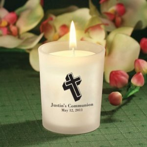 Candle Holder Personalized First Holy Communion Favors image