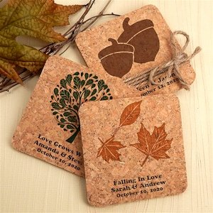 Autumn Design Cork Coaster Favors (Many Designs) image