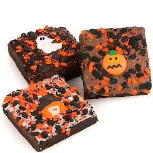 Halloween Triple Chocolate Extra Large Brownie Favors image