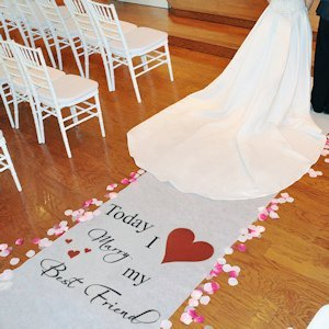 Today I Marry my Best Friend Aisle Runner (17 Colors) image