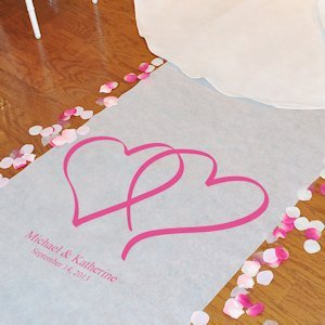LOVE Personalized Aisle Runners for Weddings (2 Designs) image