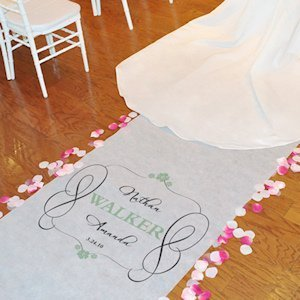 Timeless Design Personalized Aisle Runner (17 Colors) image