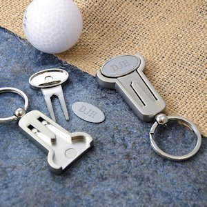 Personalized Golf Tool and Keychain Set image