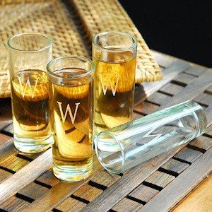 Personalized Island Shooter Glasses (Set of 4) image