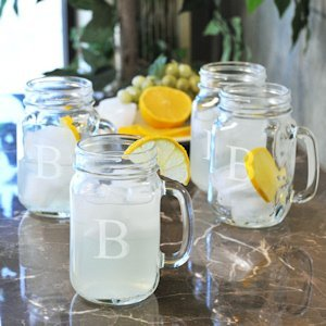 Personalized Old Fashioned Drinking Glasses (Set of 4) image