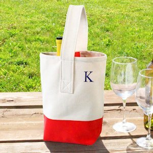 Color Dipped Wine Totes image