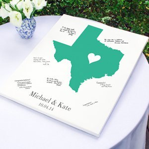 Personalized Home State Wrapped Canvas Guest Book image