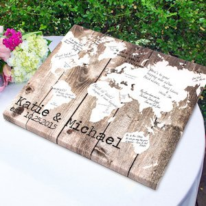 Our World Gallery Wrapped Canvas Guest Book image