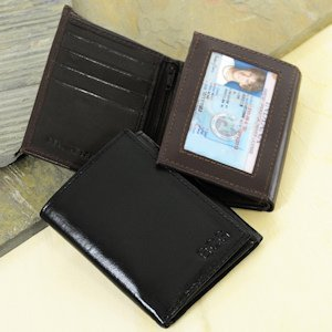 Oxford Tri-fold Genuine Leather Wallet image