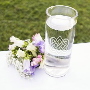 Personalized Celtic Knot Floating Unity Candle image