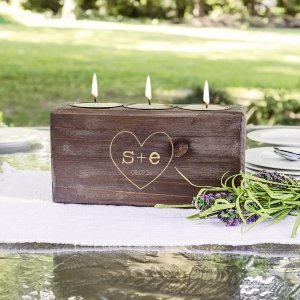 Personalized Rustic Heart Sugar Mold Unity Candle image