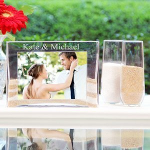 Glass Sand Ceremony Picture Frame and Vase Kit image