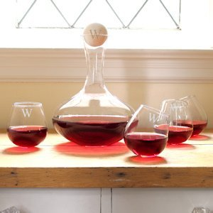 Personalized Wine Decanter & Tipsy Tasters Set image