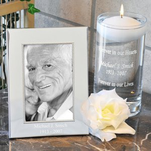 Personalized Floating Memorial Candle & Frame Set image