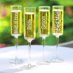 Wedding Party Champagne Flutes (Set of 4) image