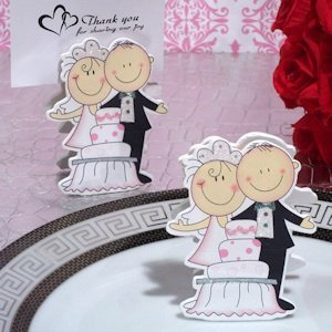 Piece Of Cake Bride And Groom Place Card Holder image