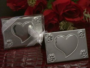 Two Piece Silver Compact Mirror image