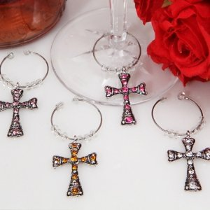 Dazzling Cross Wine Charms image