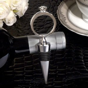 Diamond Ring Bling Design Silver Wine Stopper image