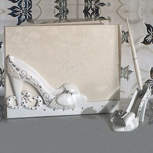 Belle of The Ball Shoe Design Wedding Accessory Set image