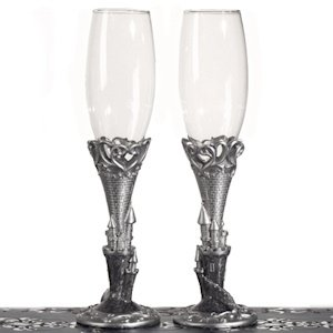 Platinum Castle Collection Toasting Glasses image