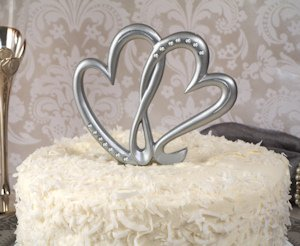Two Hearts Beat as One Cake Topper image