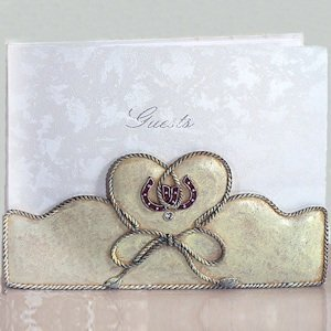 Lucky in Love Western Wedding Guest Book image