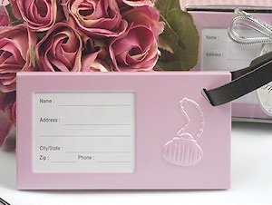 Trendy Pink Purse Luggage Tag Favors image