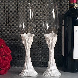 Happily Ever After Fairytale Wedding Toasting Flutes image