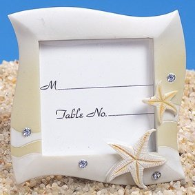 Sand Colored Beach Themed Place Card Frame image