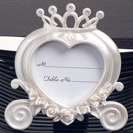 Heart Shaped Wedding Coach Place Card Frame image