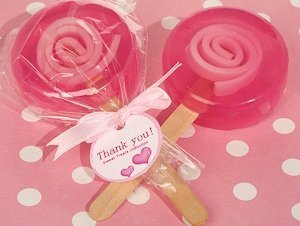 Sweet Treats Pink Lollipop Soap Favors image