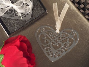 Ornate Heart Bookmark Favor image