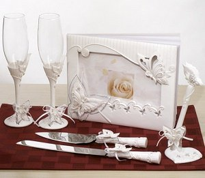 Butterfly Wedding Accessories Set image