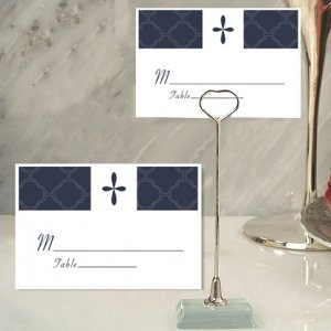 Blue Cross Design Place Card with Metal Holder image