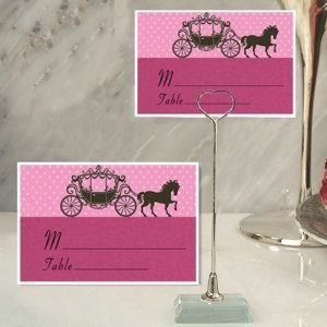 Princess Coach Design Place Card with Metal Holder image