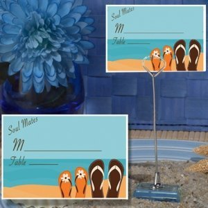 Soul Mates Beach Design Place Card with Metal Holder image