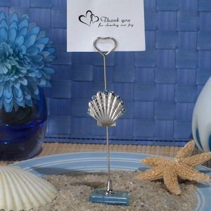 Silver Seashell Place Card Holders image