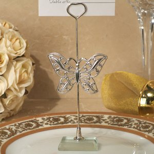 Silver Butterfly Place Card Holder image