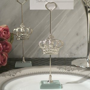Silver Royal Crown Place Card Holders image