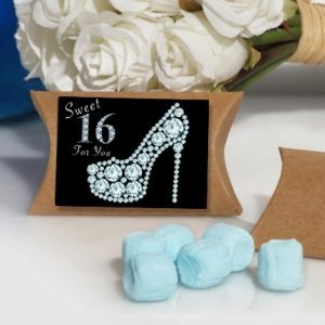 Dazzling Shoe Sweet 16 Design Mint Box Favors image