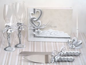 Wedding Bells Linked Hearts Reception Accessory Set image